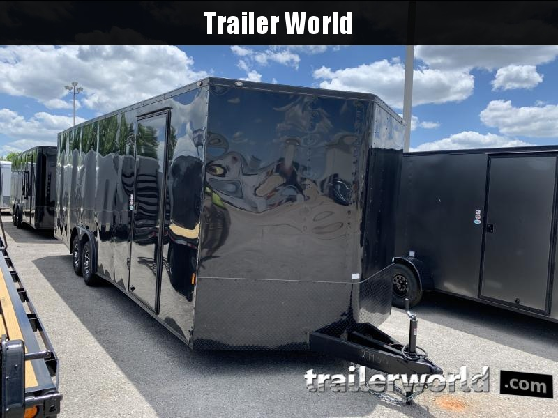 2021 Continental Cargo 24' V nose Black- Out  Car Trailer 10k GVWR