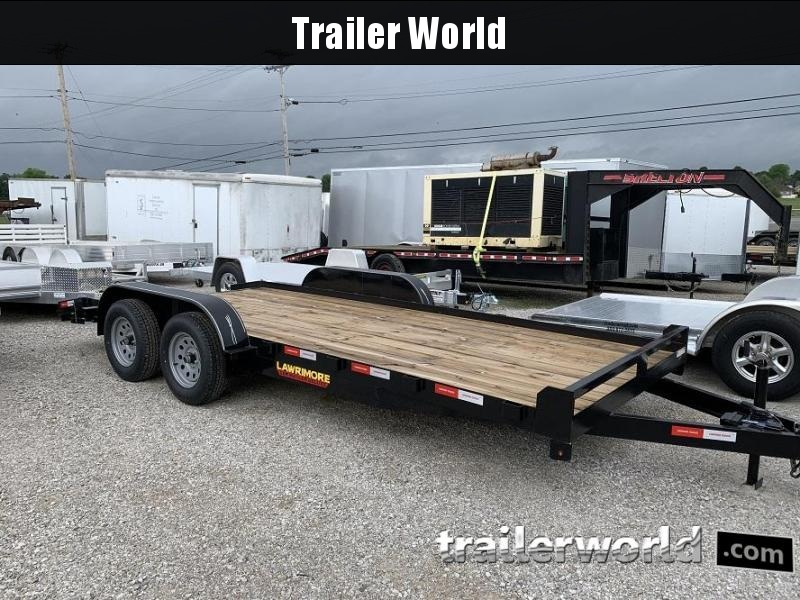 2020 Lawrimore Wood Deck 18' Car Hauler Flatbed Trailer