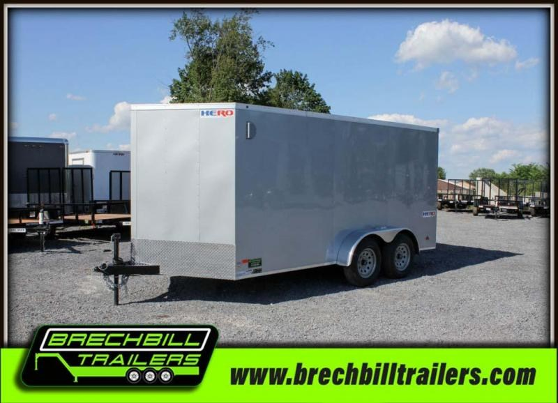 "Bravo Hero Enclosed Cargo Trailer 81""x14'4""x7K (HR714TA2) $108/month"