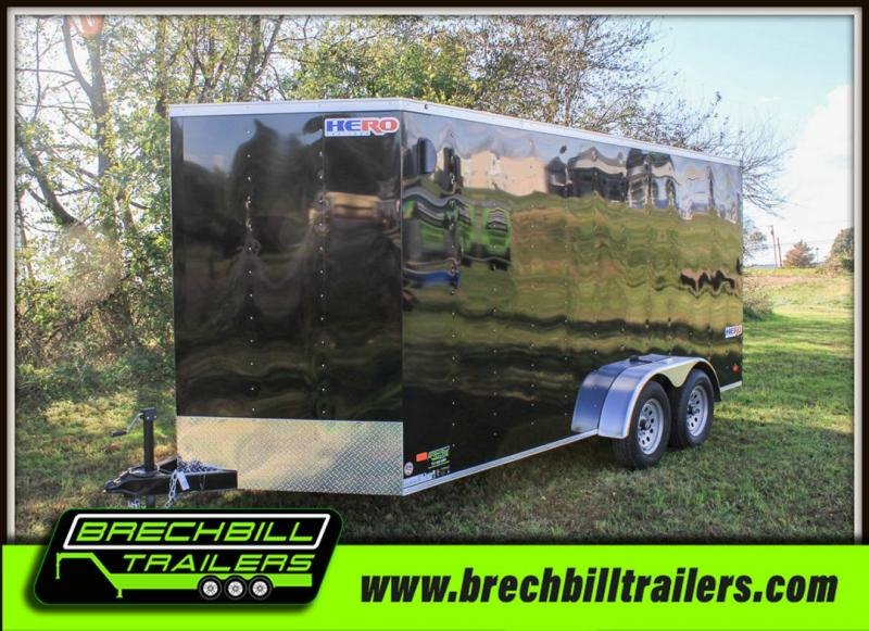 "2020 Bravo Hero Enclosed Cargo Trailer 81""x16'x7K (HR716TA2)"