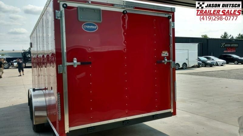 2020 United Trailers XLV 7x14 V-Nose Enclosed Cargo Trailer....Stock# UN-166146