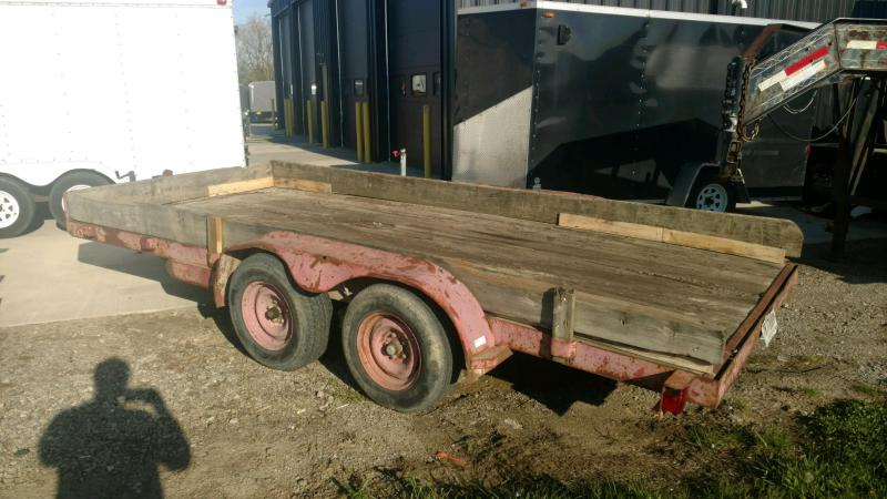 1998 HOME MADE 7X16 Tube Top Utility Trailer