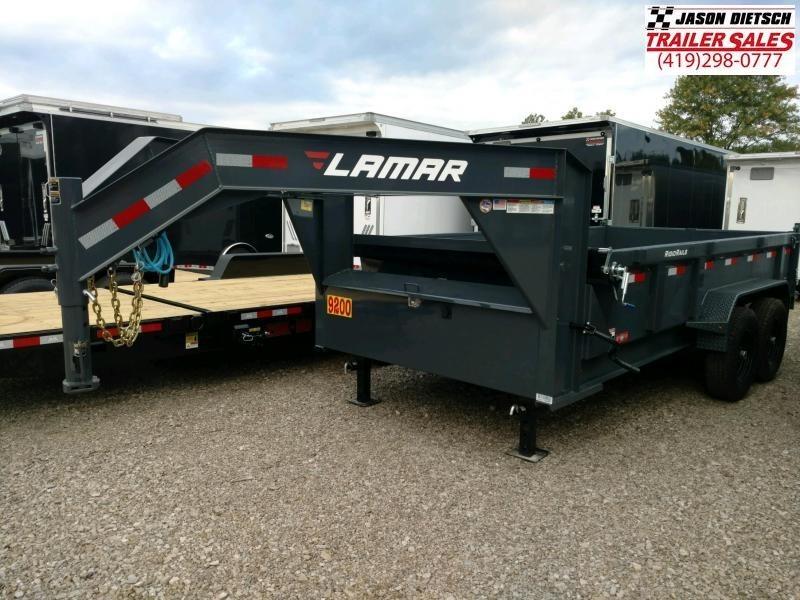 2019 Lamar 83X14 Low Pro Gooseneck Dump Trailer