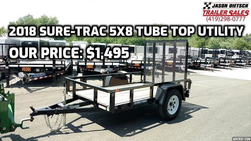 2018 Sure-Trac 5X8 Tube Top Utility Trailer