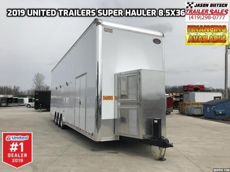 2019 United Super Hauler 8.5x36 Stacker