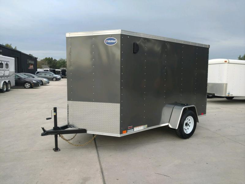 2020 United XLV 6X10 V-Nose Slant Enclosed Cargo Trailer....Stock# UN-170682