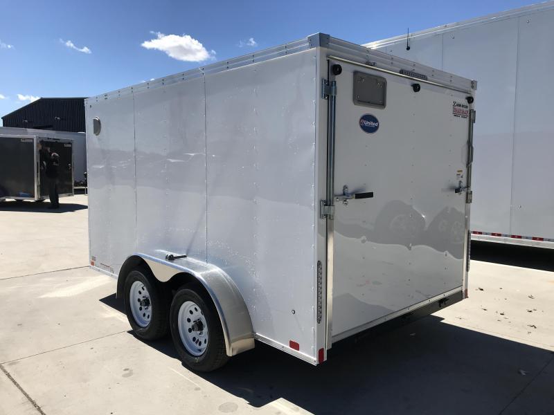 2020 United XLV 7x12 V-Nose Cargo Trailer