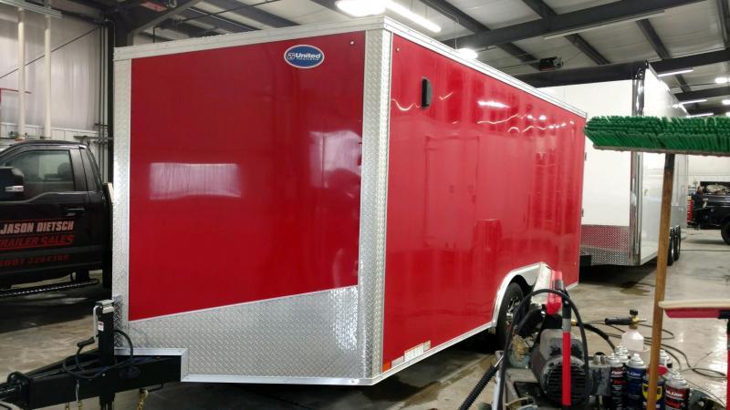 2020 United Trailers XLTV 8.5x19 Wedge-Nose Enclosed Car Hauler....Stock # UN-166634