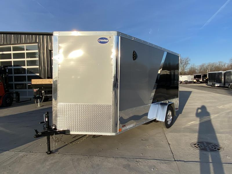 2020 United Trailers XLMTV 7X12 V-Nose Standard Height Motorcycle Trailer