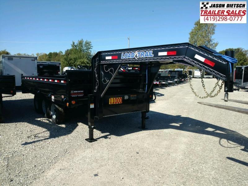 "2019 Load Trail 96"" X 16' Triple Axle Gooseneck Deck Over Dump  Trailer"