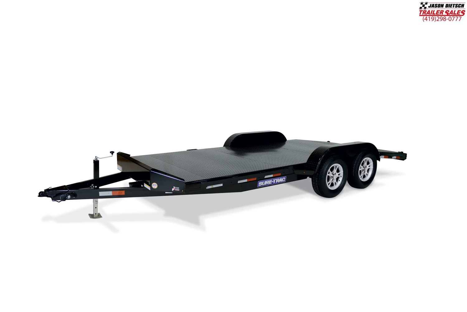 2019 Sure-Trac 7K 7x18 Steel Deck Car/Race Trailer