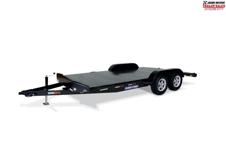 2019 Sure-Trac 7 x 18 Steel Deck Car Hauler  7k Trailer...#1148