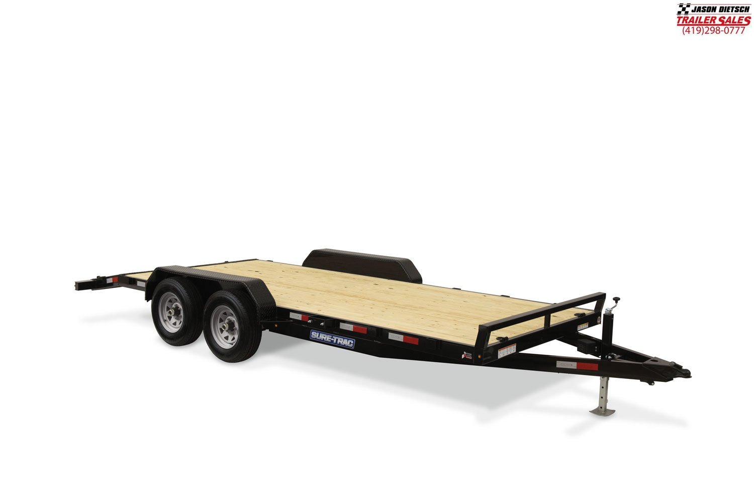 2020 Sure-Trac 7X18 Wood Deck Open Car Hauler  7k