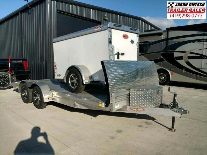 """""""Used"""" 2018 H and H 7K 7x18 Open Car Trailer"""