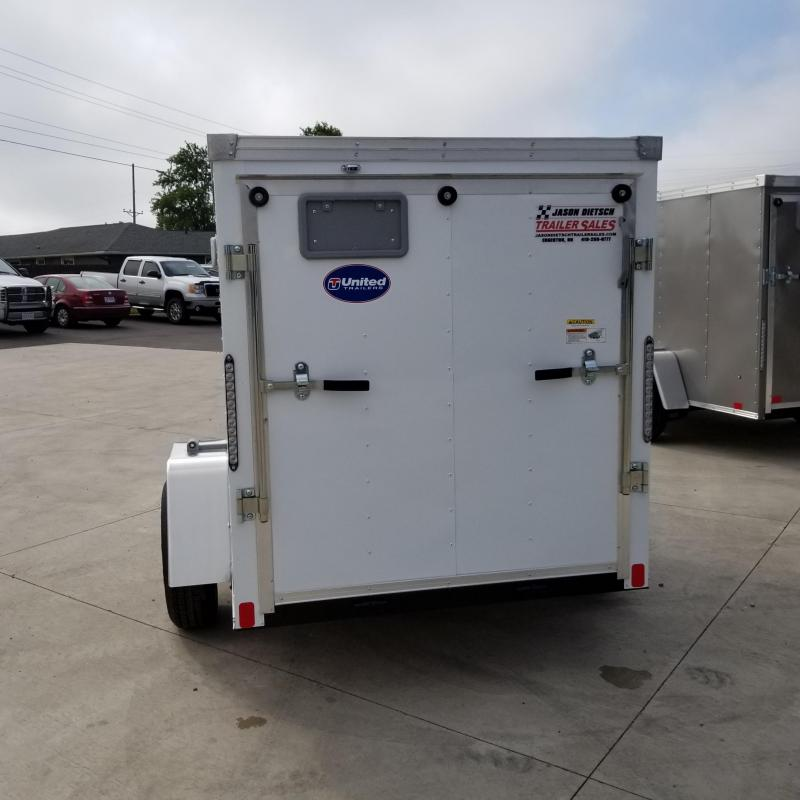 2020 United XLV 5X8 V-Nose  Enclosed Cargo Trailer...Stock#UN-169896
