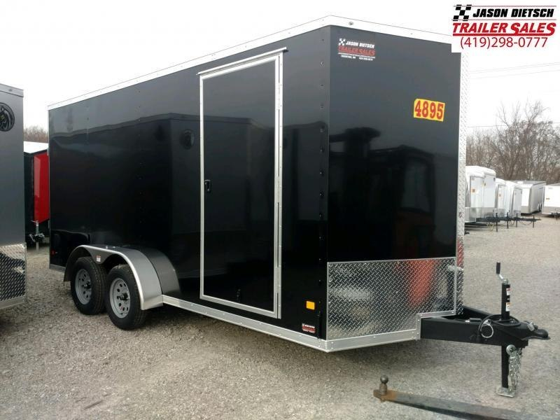 2020 Darkhorse 7x16 V-Nose Cargo Trailer Extra Height
