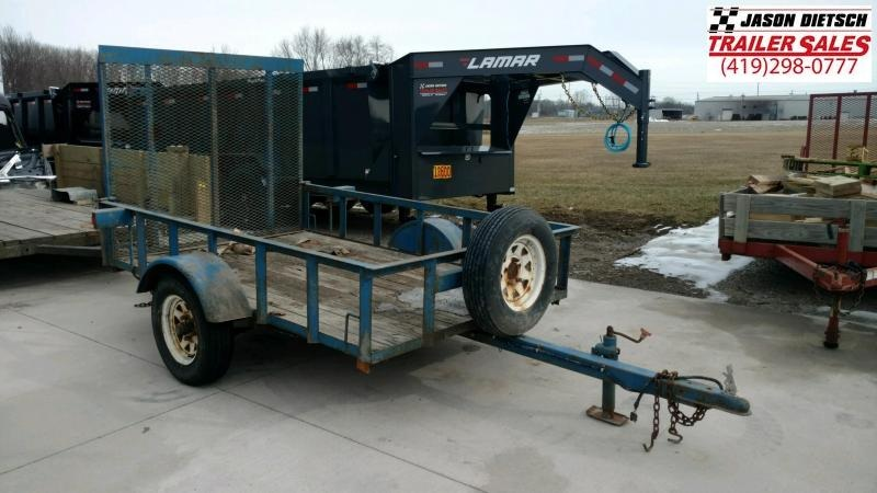 1998 MASTER TOW 5X8 Tube Top Utility Trailer