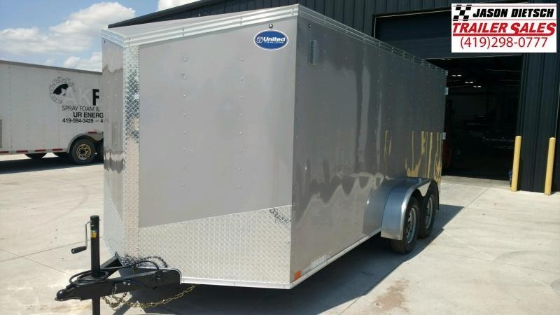2020 United Trailers XLV 7x14 V-Nose Enclosed Cargo Trailer....Stock# UN-166149