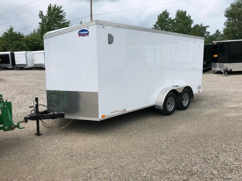 2020 United Trailers XLV 7x16 V-Nose Enclosed Cargo Trailer....Stock# UN-172169