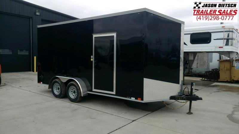 2020 United Trailers EXTRA HEIGHT XLV 7x16 V-Nose Enclosed Cargo Trailer....Stock# UN-172175