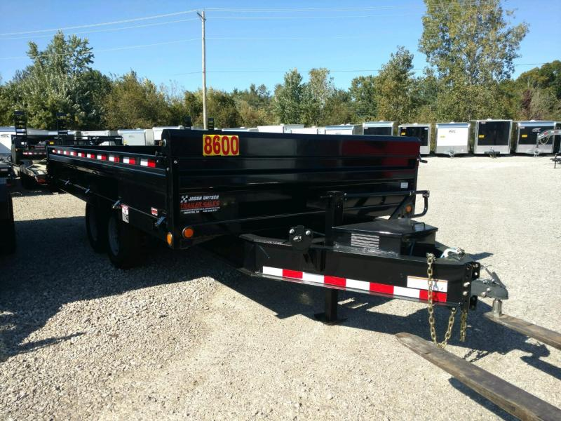 "2019 Load Trail 96"" X 16' Tandem Axle Deck Over Dump  Trailer"