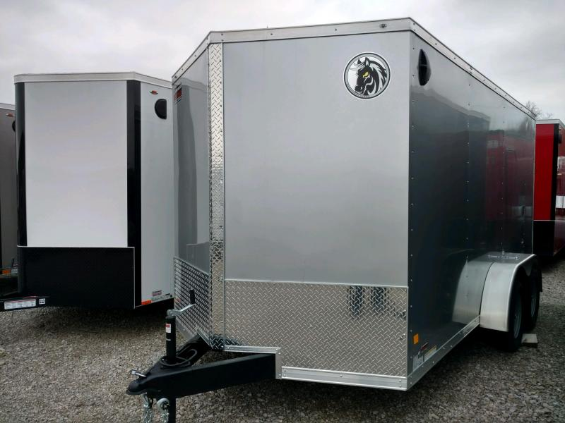 "2020 Darkhorse 7x14 V-Nose Cargo Trailer 6"" Extra Height"