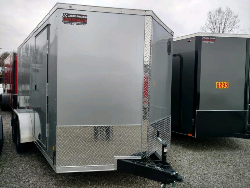 2020 DARKHORSE 7x14 V-Nose Enclosed Cargo Trailer....Stock# 100007
