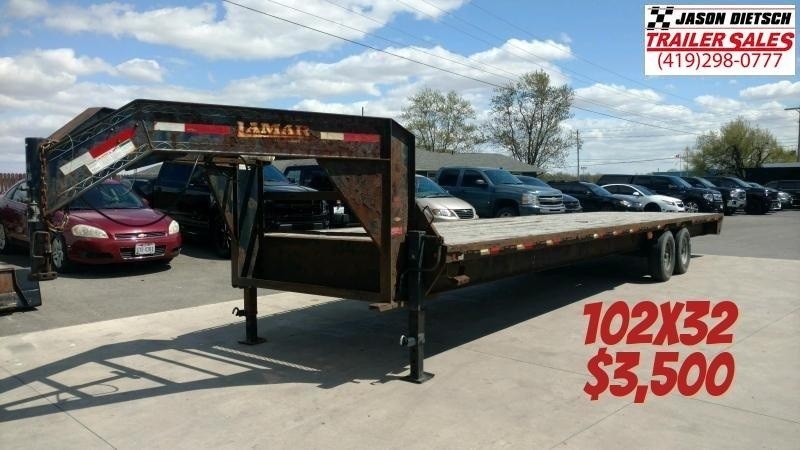 2012 Lamar 102X32 Gooseneck Equipment Trailer