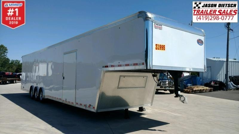 "2019 United 8.5x44 Super Hauler Car/Race Trailer 12"" Extra Height"