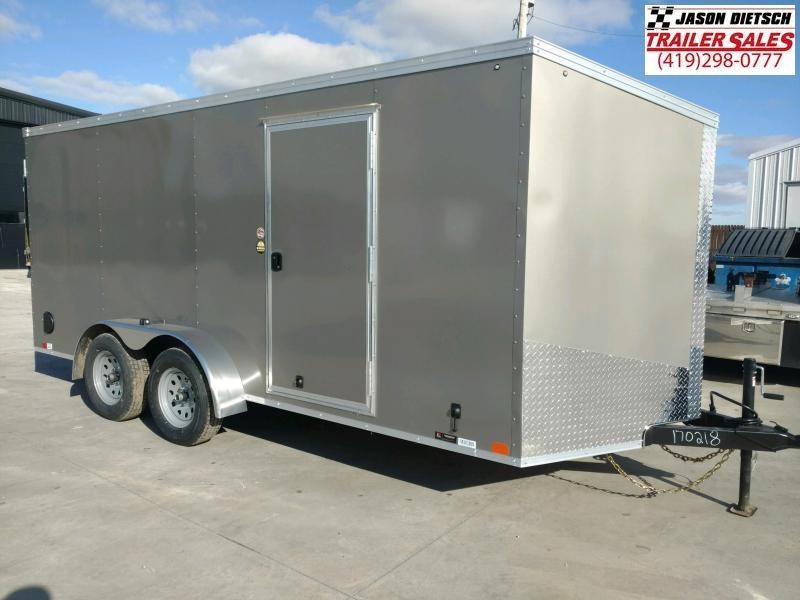2020 United XLV 7x16 V-Nose Enclosed Cargo Trailer...# 170218