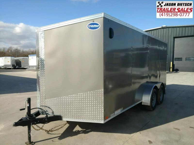 2020 United XLV 7x16 V-Nose Enclosed Cargo Trailer