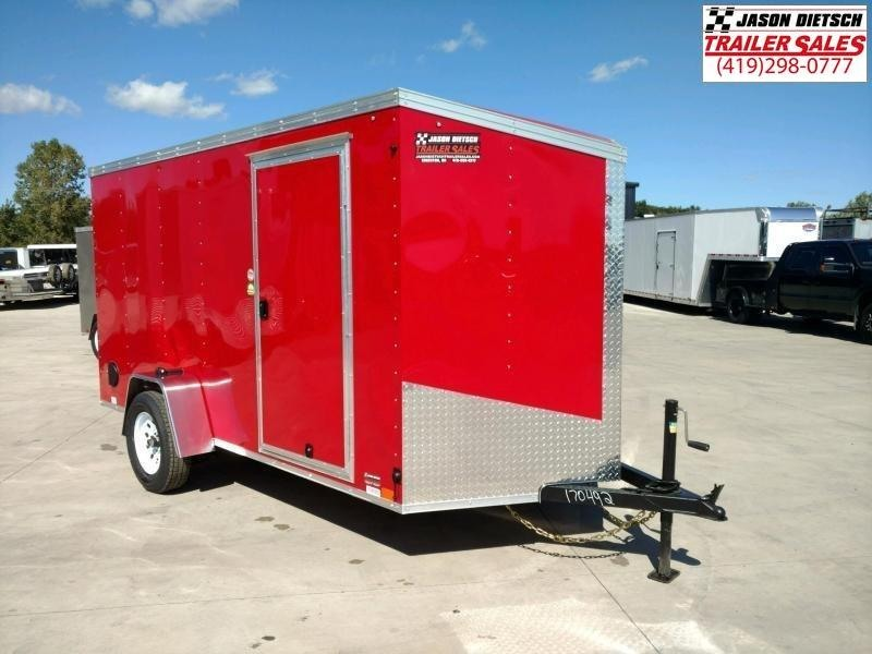 2020 United XLV 6X12 V-Nose Slant Enclosed Cargo Trailer...# 170086