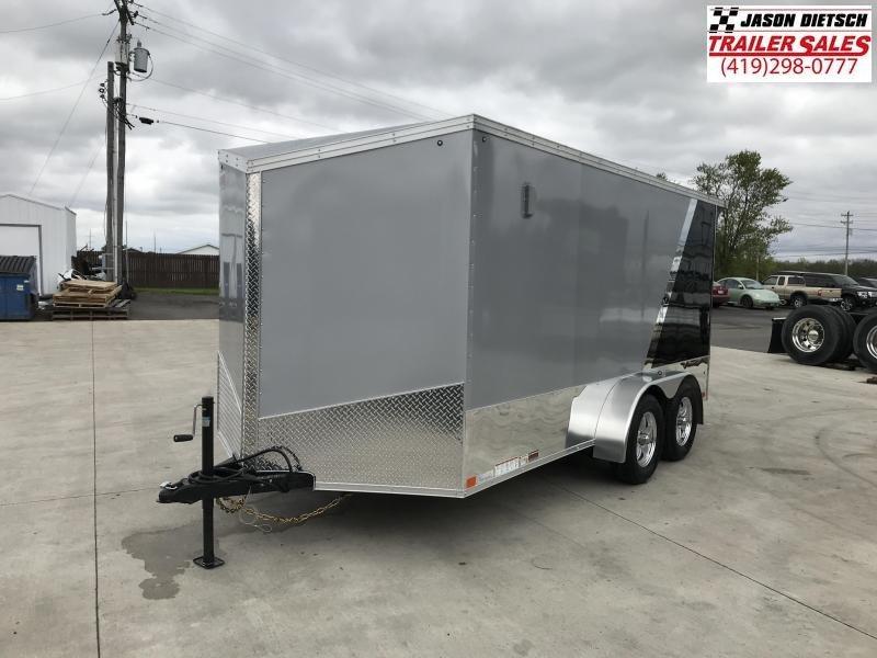 2020 United Trailers XLMTV 7x14 Wedge-Nose Enclosed Car Hauler....Stock # UN-166347
