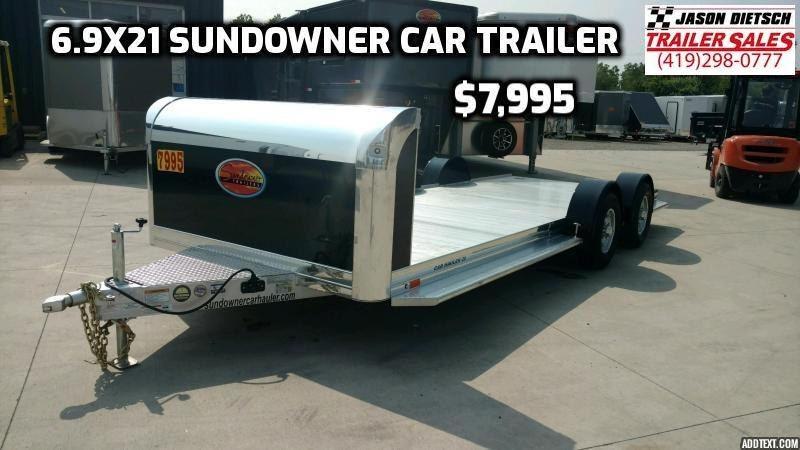 2020 Sundowner Sunlite 6.9X21 Open Car Hauler Trailer