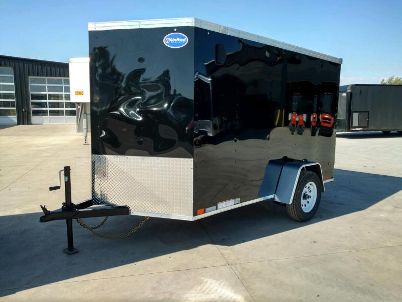 2020 United XLV 6X10 V-Nose  Enclosed Cargo Trailer....Stock# UN-170694