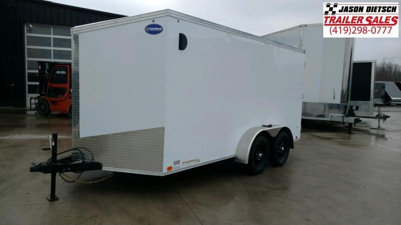2020 United Trailers XLV 7x14 V-Nose Enclosed Cargo Trailer....Stock# UN-166186
