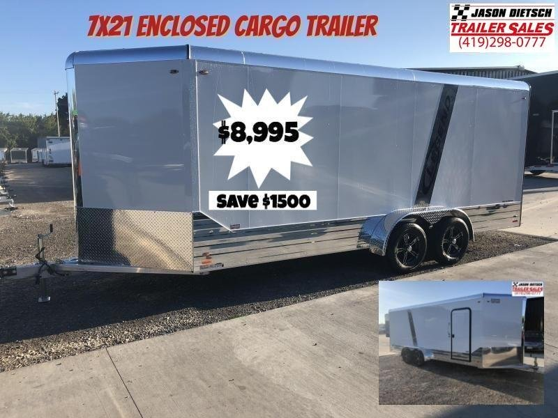 2019 Legend Manufacturing 7X21 DVN Enclosed Cargo Trailer....SAVE $1500