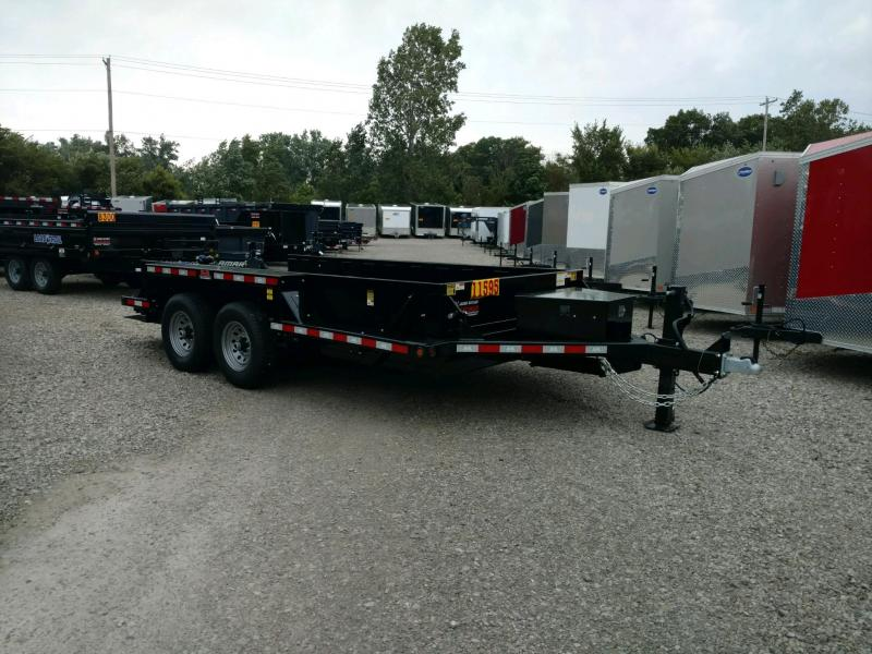 2020 Behnke 14K 76X14 **DROP DOWN** Equipment Trailer