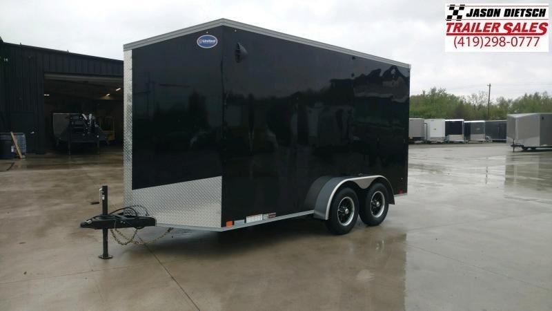 2021 United XLV 7x14 V-Nose Extra Height Enclosed Cargo Trailer