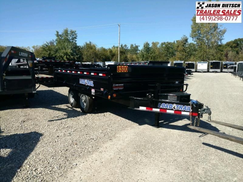 "2019 Load Trail 96"" X 14' Tandem Axle 2 5/16 ball Deck Over Dump Dump Trailer"