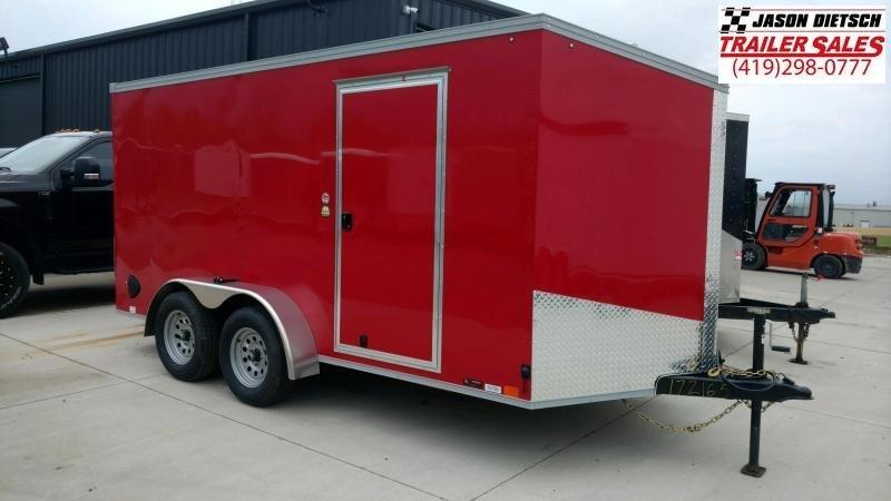 2021 United Trailers XLV 7x14 V-Nose Enclosed Cargo Trailer....Stock# UN-172165