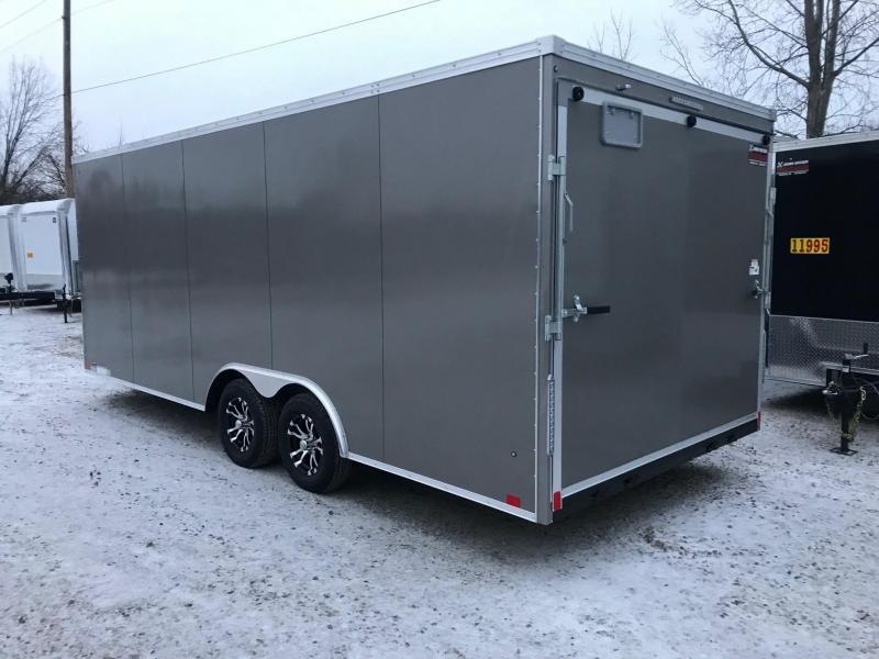 2020 United Trailers XLTV 8.5x19 Wedge-Nose Enclosed Car Hauler....Stock # UN-166630