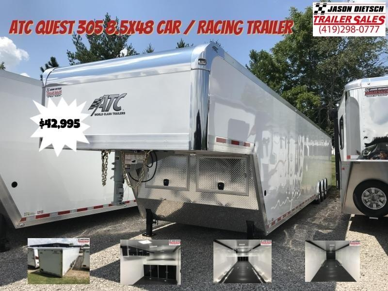 2019 ATC QUEST 305 8.5X48 Car / Racing Trailer...  Save $6100
