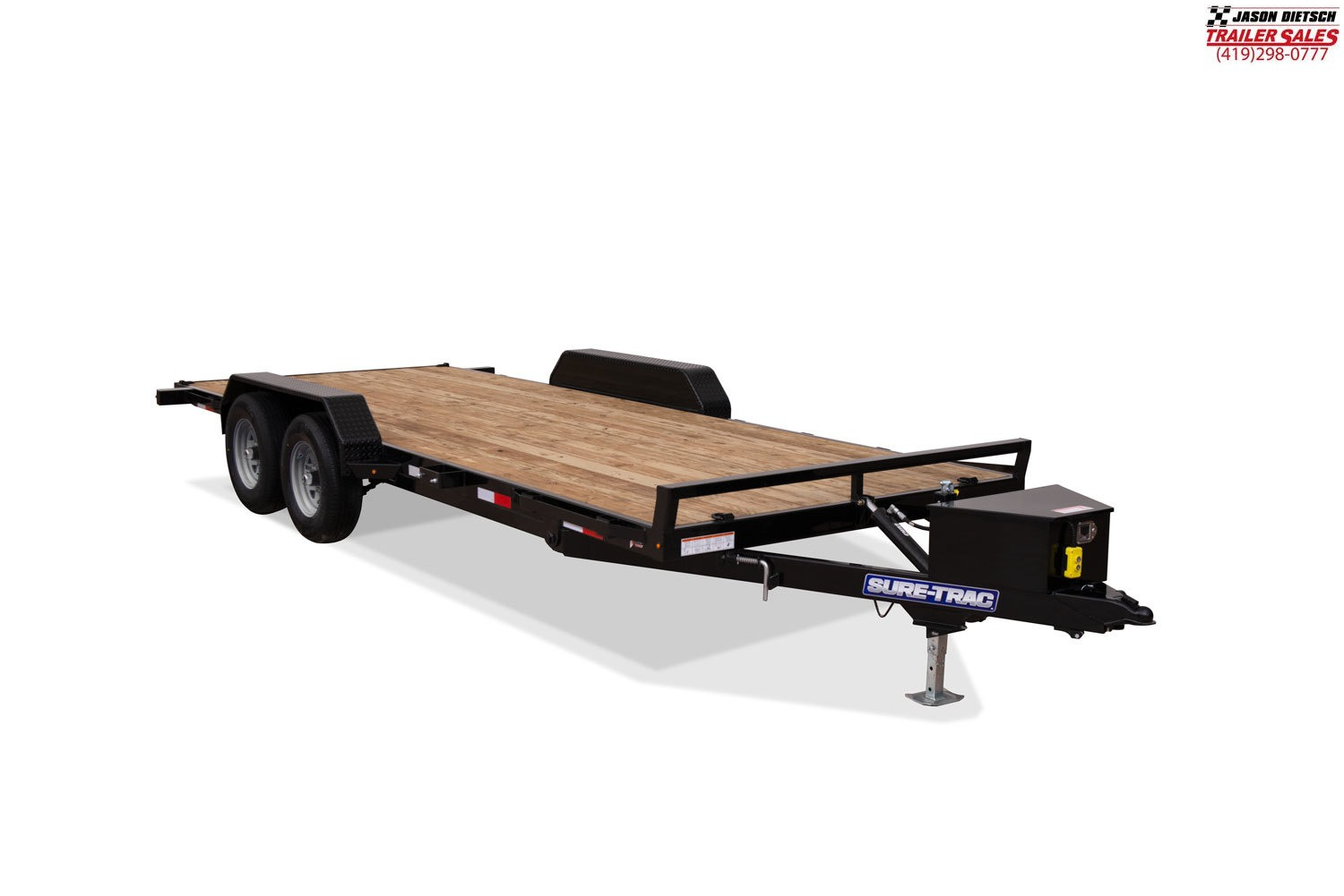 2020 Sure-Trac 7 x 20 Tilt Bed Car Hauler  10k