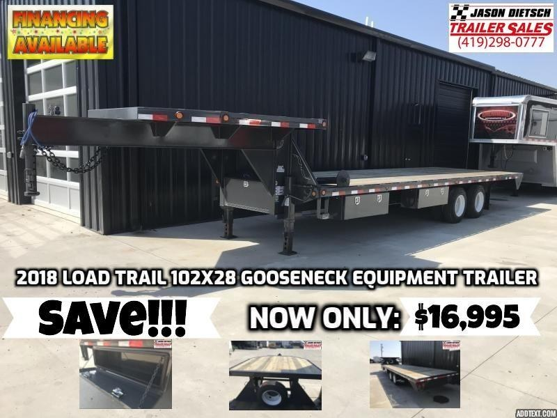 2018 Load Trail 102x28 Gooseneck Equipment Trailer... SAVE $3000