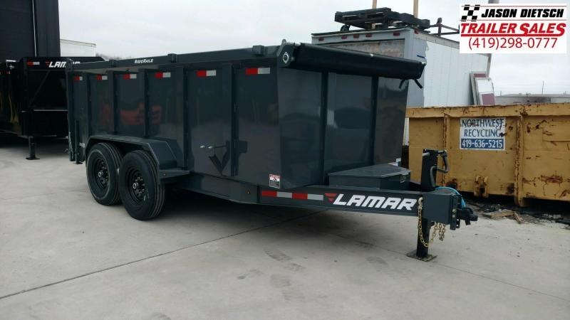 2020 Lamar Trailers 83X14 Low Pro Dump Trailer 14K....STOCK# LM-088024