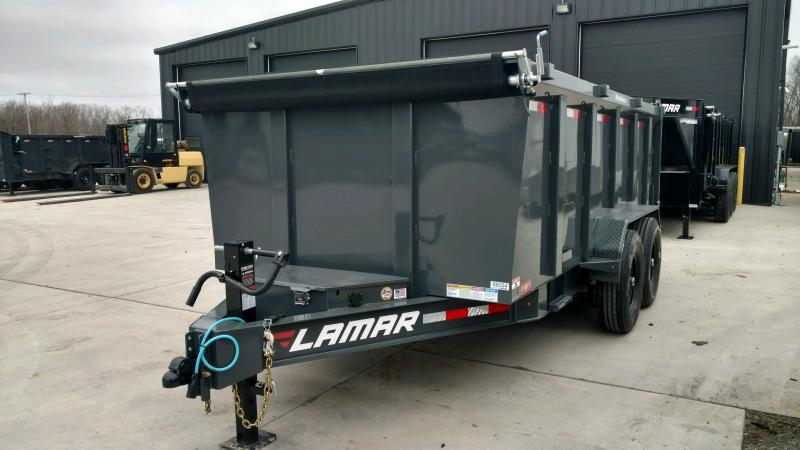 2020 Lamar Trailers 83X14 Low Pro Dump Trailer 14K....STOCK# LM-088024