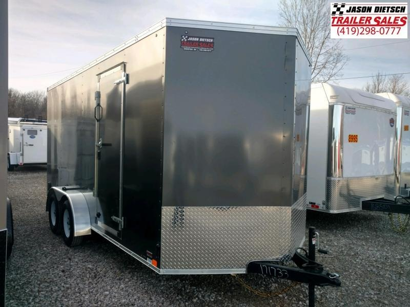 2020 United XLV 7x16 V-Nose Cargo Trailer Extra Height