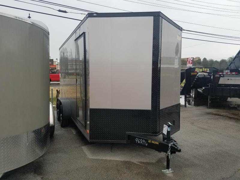 2019 Covered Wagon Trailers 7x16 Beige Enclosed Cargo Trailer