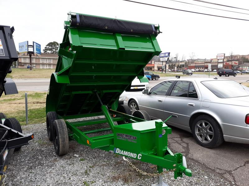 Diamond C 41ED 5 x 10 Dump Trailer Green